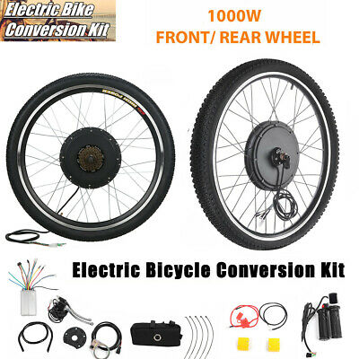 """1000W 26"""" Electric Bicycle Front Rear Wheel 48V Ebike Hub Motor Conversion Kit"""