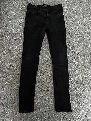 Boys Next Black Skinny Fit Jeans, Age 13, VGC