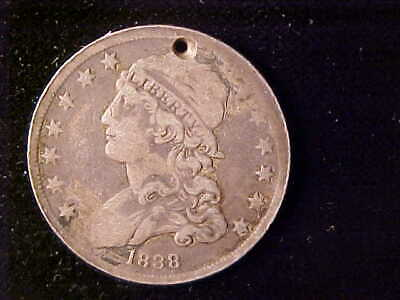 Bust 25 Cents 1838, No Charge For The Hole