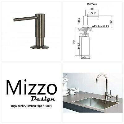 Soap Dispenser Stainless Steel Mizzo Govaro | 5 Year Warranty | Washing Up Liqui