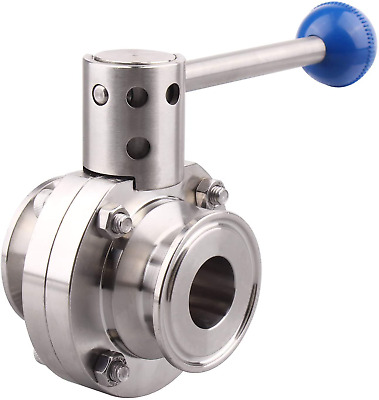 Dernord Sanitary Butterfly Valve With Pull Handle Stainless Steel 304 Tri Clamp