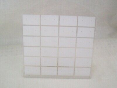 Store Fixture Supplies 3 FASHION JEWELRY EARRING DISPLAYS 24 PAIR CLEAR