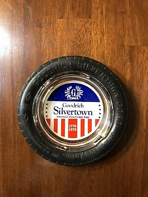 Vintage B F Goodrich Silvertown Cord 32x4 Tire Glass Ashtray 1779 - 1976
