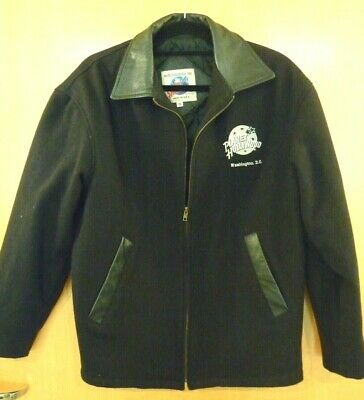 Planet Hollywood Washington D.c. Wool Jacket With Leather Collar Size Small