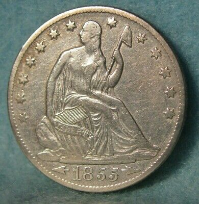 1855-O Seated Liberty Silver Half Dollar Better Grade United States Type Coin