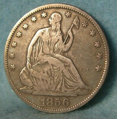 1856-O Seated Liberty Silver Half Dollar Better Grade United States Type Coin
