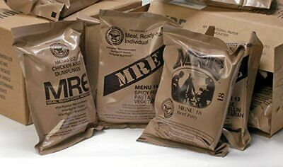 Military Food Rations Individual MREs Meals Ready to Eat Choose Menu 9/22 Inspec