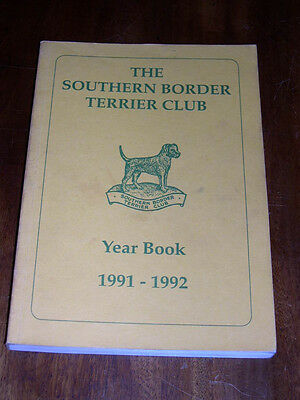 "Rare Dog Book ""The Southern Border Terrier Club Yearbook 1991-1992"" Illustrated"