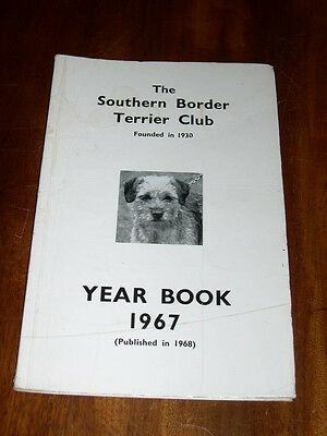 "Rare Dog Book ""The Southern Border Terrier Club Yearbook 1967"" Illustrated"