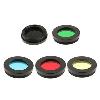 1 Set 1.25 Inch Five Color Filters for Astronomy Telescope Accessory Kit - Red