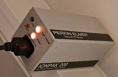 PERKIN-ELMER Vacuum Products IONPAK 200 Ion Pump Power Supply 6000V MISSING HVFT