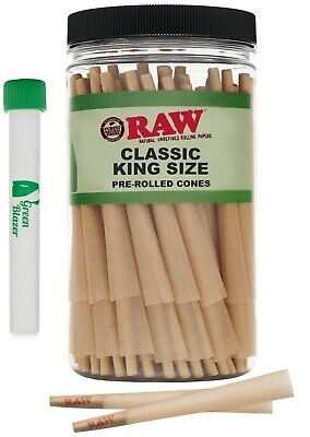 RAW Cones Classic King Size: 100 Pack - Pre Rolled Cones with Filter Tips