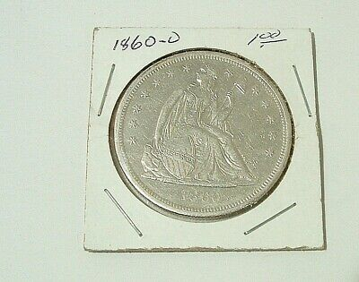 1860 O Seated Liberty United States Silver Dollar Beautiful Condition