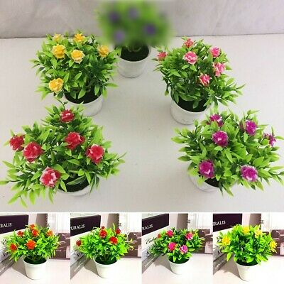 Artificial Fake Potted Flower Plant Bonsai Outdoor Indoor Garden Home Decoration