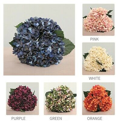 Artificial Flower Hydrangea Fake Bouquet Wedding Home Party Adornment Simulation