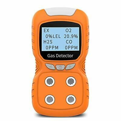 Portable Gas Detector, Gas Clip 4 Gas Monitor Meter Tester Analyzer, Rechargeab
