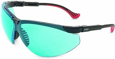 Uvex by Honeywell Genesis XC Safety Glasses, Black Frame with SCT-Blue Lens & Uv