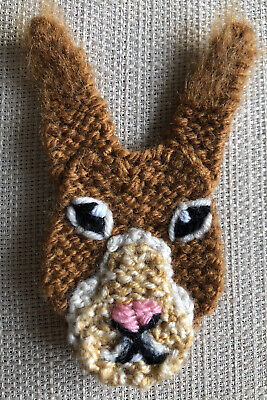 Red Squirrel Knitted Brooch