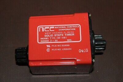 Ncc T1K-00030-461 Solid State Time Delay Relay 0.3-30sec 120v-ac (new)