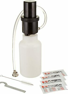 Kegco BF CK-1P04 Beer Line Cleaning Kit Bottle with 4 0.5-oz Packets of...