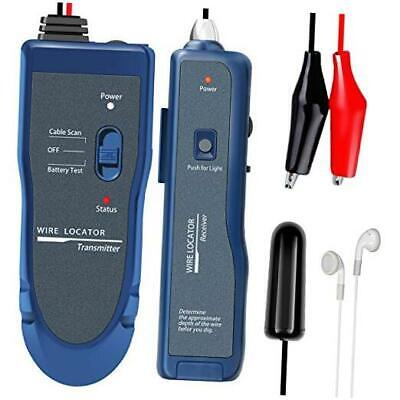 Underground Wire Locator, Cable Tester F02 Pro with Rechargeable 1100mAh Batter