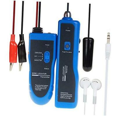 Underground Wire Locator Cable Tracker with Earphone for Invisible Fence, Pet S
