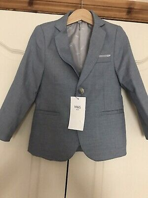 M&S New With Tags Pale Blue Smart Blazer Jacket Age 3-4 Was £36