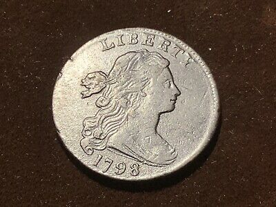 1798 Draped Bust Large Cent Style 2 Hair S-169 R3
