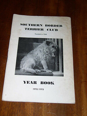 "Rare Dog Book ""The Southern Border Terrier Club Yearbook 1972-1973"" Illustrated"