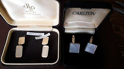 Two Pairs Cufflinks One Pair Brand New Gold Plated from John Lewis.