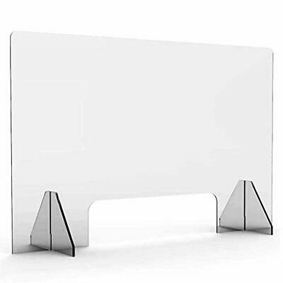 Protective Sneeze Guard for Counter and Desk - Freestanding Clear Acrylic Shi...