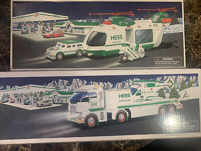 2001 & 2006 Hess Helicopter Sets/ Mint