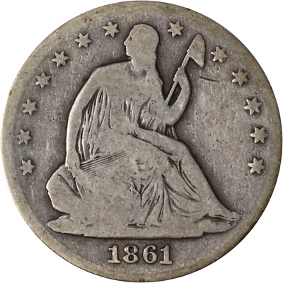 1861-P Seated Half Dollar -Civil War Date  Great Deals From The Executive Coin C