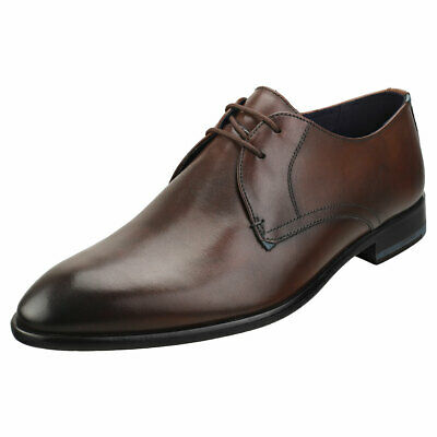 Ted Baker London Mens New Tan Leather Shoes Lace Up Derby Tan RRP £109 UK Size 8