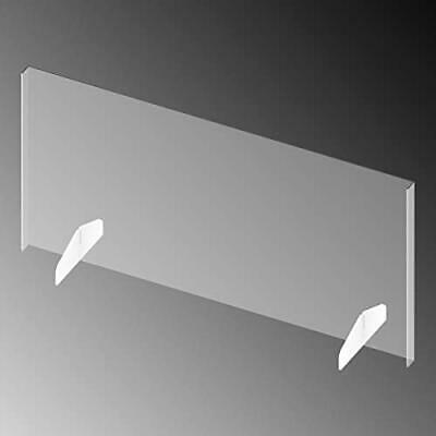 """Exhibitor's Handbook 1/8"""" Thick Clear Acrylic Sneeze Guard - 44"""" Wide x 22"""" H..."""
