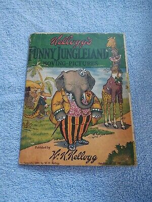 1909 Kellogg's Funny Jungleland Moving Pictures Book