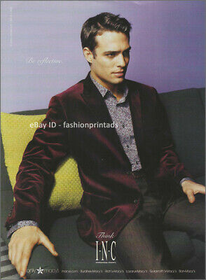 INC INTERNATIONAL CONCEPTS Menswear 1-Page Magazine PRINT AD Fall 2004