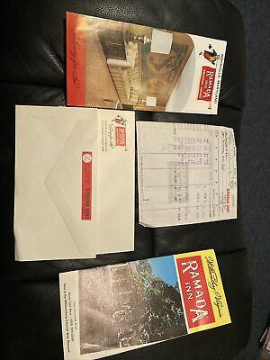 Ramada Inn Roadside Hotels Memorabilia And Receipts From 1973