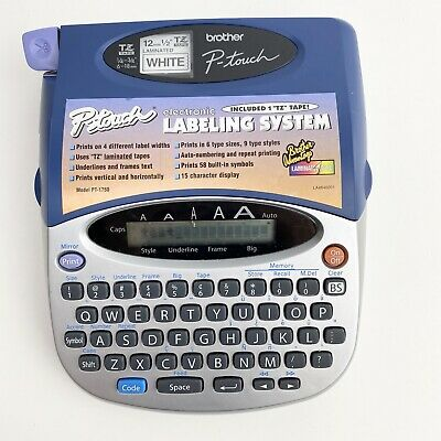 Brother P-Touch 1750 Electronic Labeling System Label Maker Tested Working