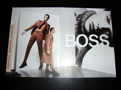 HUGO BOSS 2-Page Magazine PRINT AD Fall 2019 FINNLAY DAVIS