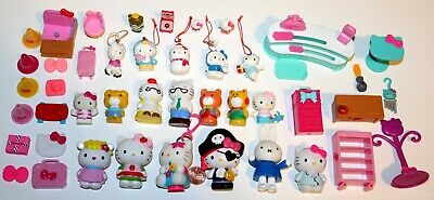 Sanrio Hello Kitty Figures, Furniture, Mini Ornaments & Accessories 44 Pc Lot