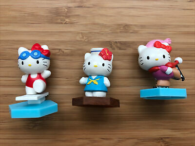 Yujin Hello kitty Sport Collection Gashapon Figure (3 Figures ) 2""