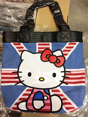 * ~SALE~ LOUNGEFLY Sanrio HELLO KITTY Tote Bag Purse Handbag UK FLAG ENGLAND