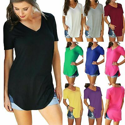 Womens Ladies Round Neck High Low Dip Hem Ruched Sleeve Baggy Oversized Crop Top