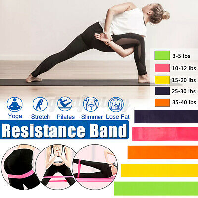 Resistance Stretch Loop Band Gym Yoga Fitness Exercise Elastic Rubber Strap UK