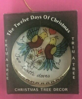 polonaise two turtle doves ornament as is 12 days of Christmas Xmas tree