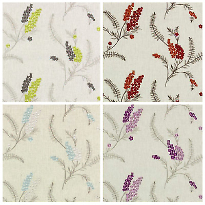 Cerelia Blossom Patterned Curtain Fabric Material 132cm wide Belfield Home