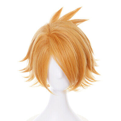 Anime Cartoon Characters Kaminari Denki Yellow Wig Hair Fans Cosplay ExhibitWR