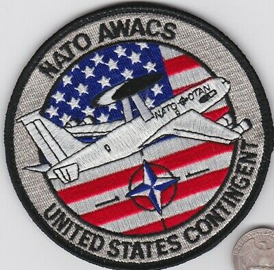 Details about  /NATO OTAN AWACS E-3A Component Patch Hook /& Glue On Repro New A187