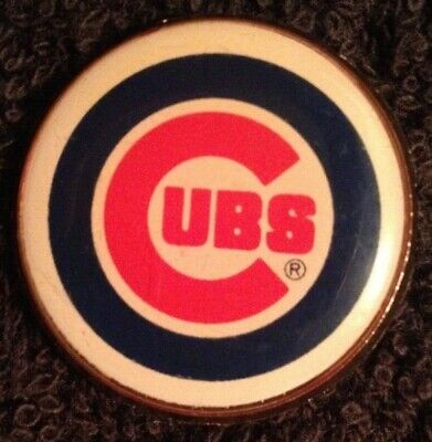 """*VINTAGE* 1 """" CHICAGO CUBS Button PIN Collector's Item *RARE* Badge *RETRO* MLB"""